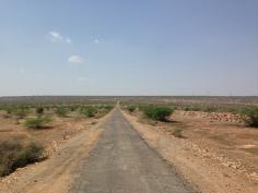 Open road on the way to Bhimlat waterfalls